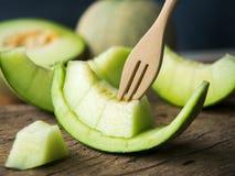 Ny frukt för japangräsplanmelon Arkivbild