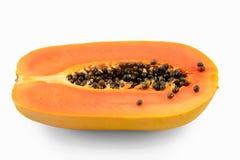 ny frukt isolerad tropisk white för papaya Royaltyfri Foto