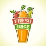 Ny fruktsaft Arkivbild