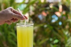 Ny fruktsaft för sockerrör för sunt äta, ny mat för att banta Arkivfoton