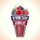 Ny fruktsaft från bär royaltyfri illustrationer
