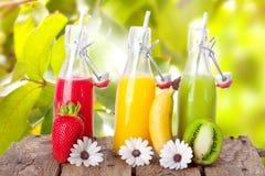 Ny fruktsaft i sommar Royaltyfri Bild