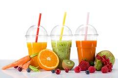 Ny fruktsaftblandningfrukt Fotografering för Bildbyråer
