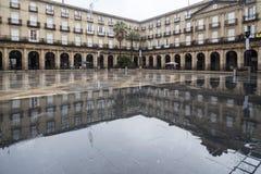 Ny fyrkant, Plaza Nueva eller Plaza Barria, monumental fyrkant, neoc Royaltyfri Fotografi