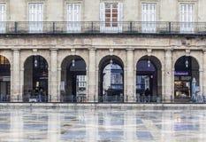 Ny fyrkant, Plaza Nueva eller Plaza Barria, monumental fyrkant, neoc Royaltyfria Bilder