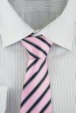 ny görad randig skjortasilk för slips Arkivbilder