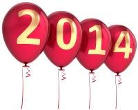 Ny garnering för parti för 2014 årsballonger Arkivbilder