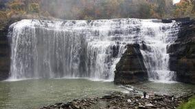 Ny Genesee van de waterdaling rivier Royalty-vrije Stock Foto's