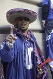 NY Giants fan celebrates Super Bowl win Royalty Free Stock Photography