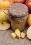 Ny gjord applesauce arkivfoto