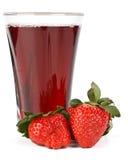 ny glass fruktsaftjordgubbe royaltyfri foto