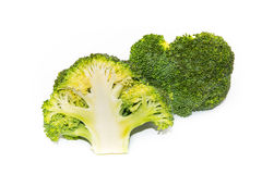 Ny grön broccoli som isoleras på vit bakgrund Arkivfoto