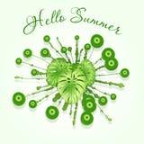 Ny grön design för sommarabstrakt begreppfärgstänk Royaltyfri Bild