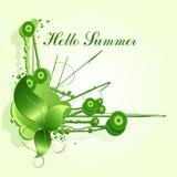 Ny grön design för sommarabstrakt begreppfärgstänk Royaltyfri Fotografi