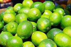 Ny grön limefrukt Fotografering för Bildbyråer