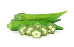 Ny grön okra Royaltyfria Foton