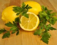 ny grön skivad citronparsley Royaltyfria Bilder