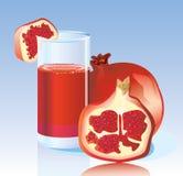 ny granatröttfruktsaft Arkivbild