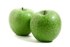ny green två för äpplen arkivfoto
