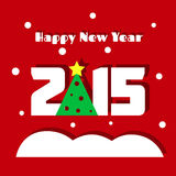NY greeting. Happy New Year greeting card Stock Photography
