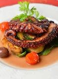 Ny grillad bläckfisk Fotografering för Bildbyråer