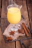 Ny gul eggnog Royaltyfria Foton