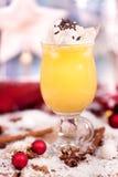 Ny gul eggnog Royaltyfri Fotografi