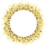 Ny guld glitter2 Fotografering för Bildbyråer