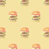 Ny hamburgare Arkivfoto