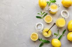 Ny hemlagad citronkräm Royaltyfri Fotografi