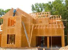 Ny home konstruktion Fotografering för Bildbyråer