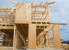 Ny home konstruktionsinramning. Royaltyfri Fotografi