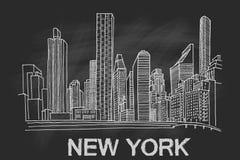 ny horisont york vektor illustrationer
