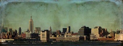 ny horisont york för grunge Royaltyfri Fotografi
