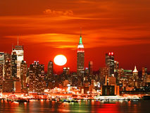 ny horisont york för stad Arkivbilder