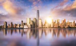 ny horisont york för stad Fotografering för Bildbyråer