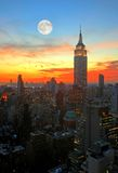 ny horisont york för stadsmidtown Royaltyfria Foton