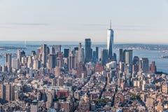 ny horisont york f?r stad arkivfoto