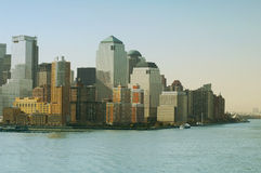 ny horisont york New York City med Manhattan horisont Arkivfoto