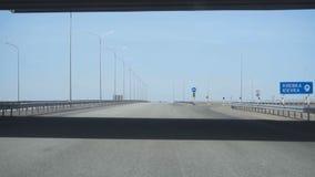 Ny huvudväg i Kasakhstan arkivfilmer