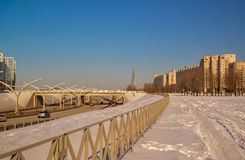 Ny huvudväg i St Petersburg royaltyfria bilder