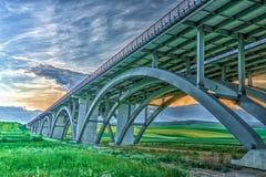 Ny huvudvägviadukt i Slovakien Royaltyfri Bild
