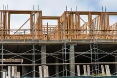 Ny hyreshuskonstruktionsplats Arkivfoton