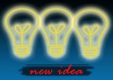 Ny idé Arkivfoton
