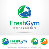 Ny idrottshall Logo Template Design Vector Fotografering för Bildbyråer