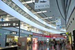 Ny incheckning i den Wien flygplatsen arkivbild