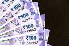 Ny indier hundra rupier sedlar arkivbilder