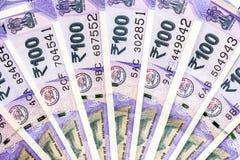 Ny indier hundra rupier sedlar royaltyfri fotografi