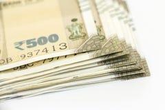 Ny indier 500 rupier sedlar royaltyfria foton