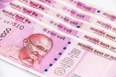 Ny indier 2000 rupier sedlar royaltyfri foto